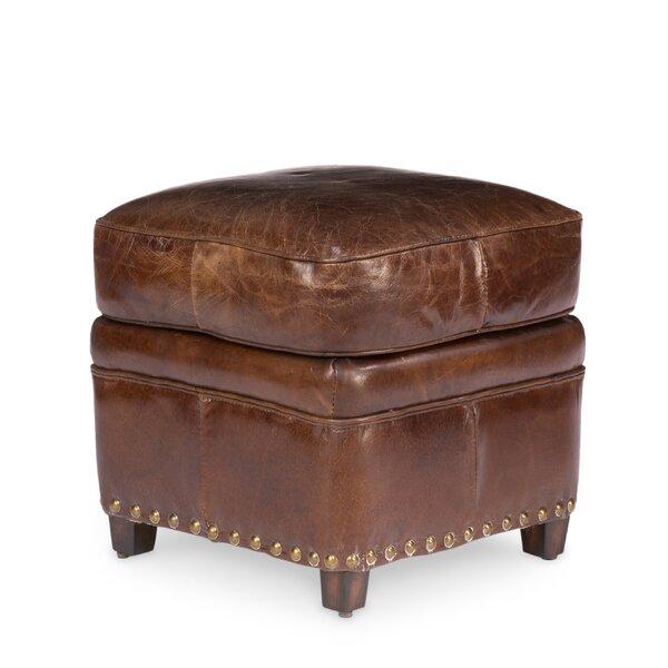 Alcott Hill Leather Ottomans