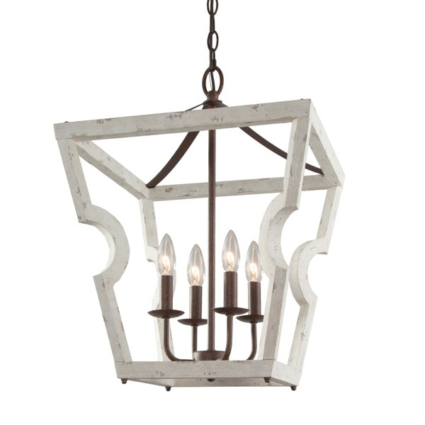 Ellesef 4 - Light Lantern Geometric Chandelier by Gracie Oaks