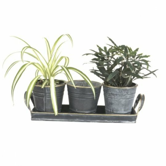 4-Piece Metal Pot Planter Set by Mr. MJs
