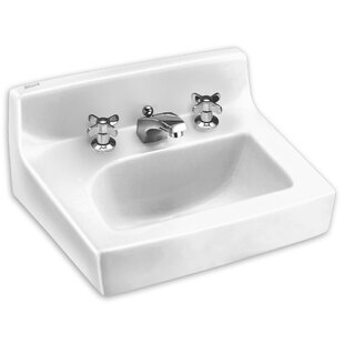 Best Deals Penlyn Ceramic 18 Wall Mount Bathroom Sink with Overflow ByAmerican Standard