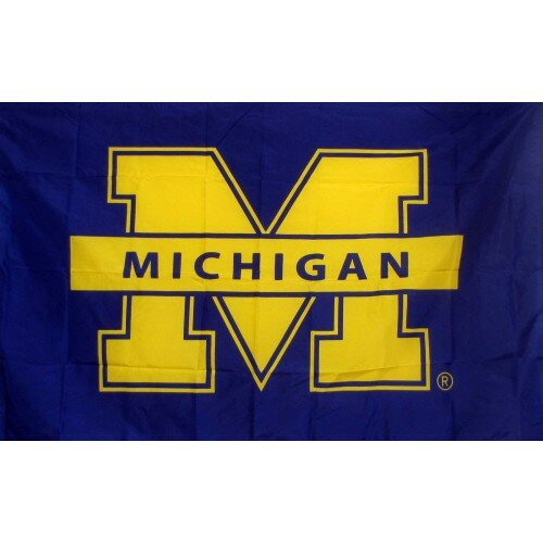 Michigan Wolverines Polyester 3 x 5 ft. Flag by NeoPlex