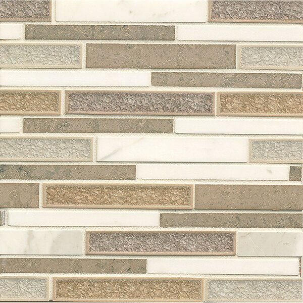 Kismet Random Sized Stone and Porcelain Mosaic Tile in Serendipity by Bedrosians