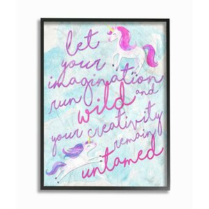Let Your Imagination Run Wild Framed Art by Stupell Industries