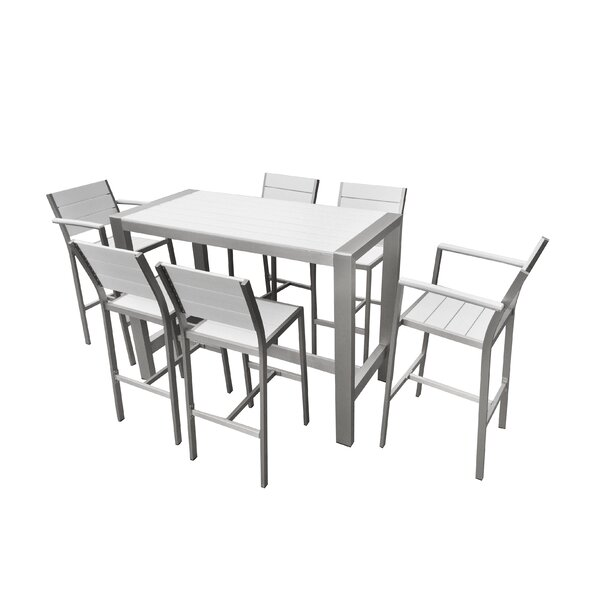Mabe 7 Piece Bar Height Dining Set by Rosecliff He