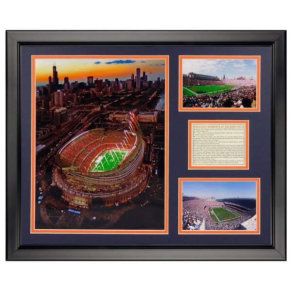NFL Chicago Bears - Soldier Field New Framed Memorabili by Legends Never Die