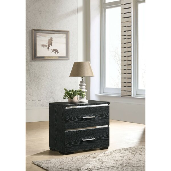 Tavon Wooden 2 Drawer Nightstand by Orren Ellis