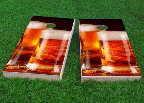 Double Beer Mug Cornhole Game (Set of 2) by Custom Cornhole Boards