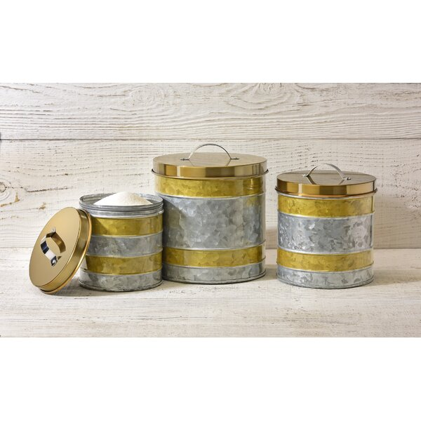Galvanized Kitchen Canister Set (Set of 3) by Williston Forge