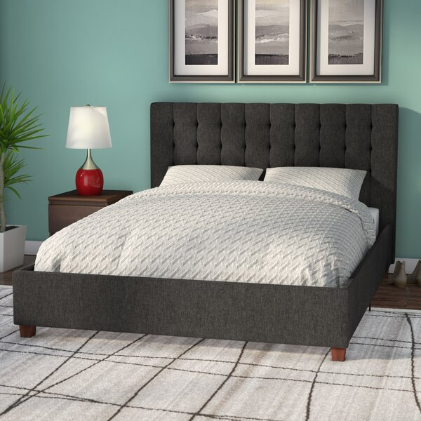 Littrell Upholstered Platform Bed by Wade Logan