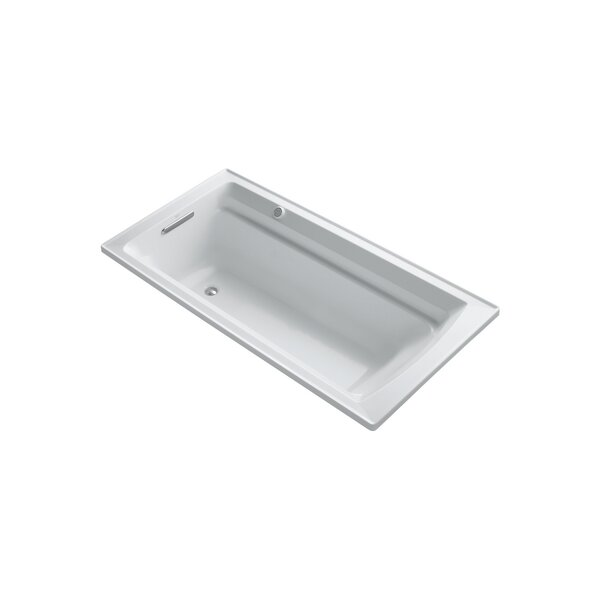 Archer 72 x 36 Drop-in Bubble massage Air Bathtub with Reversible Drain and Bask Heated Surface by Kohler