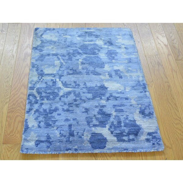 One-of-a-Kind Chairez The Honeycomb Award Winning Design Hand-Knotted Wool Area Rug by Isabelline