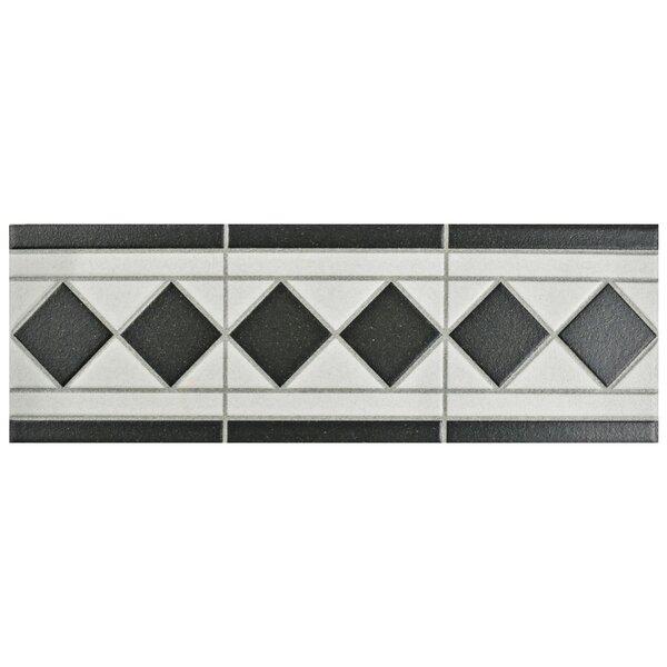 Narcisso 13 x 4.25 Porcelain Listello Trim Tile in Black (Set of 8) by EliteTile