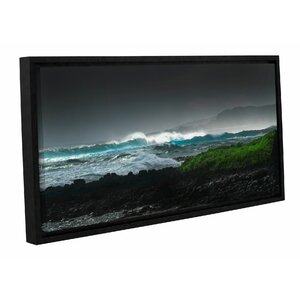 Illuminated Breaking Wave Framed Photographic Print by Latitude Run