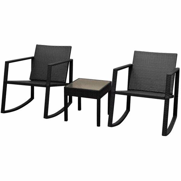 Aline 3 Piece Rattan Seating Group by Ebern Designs Ebern Designs