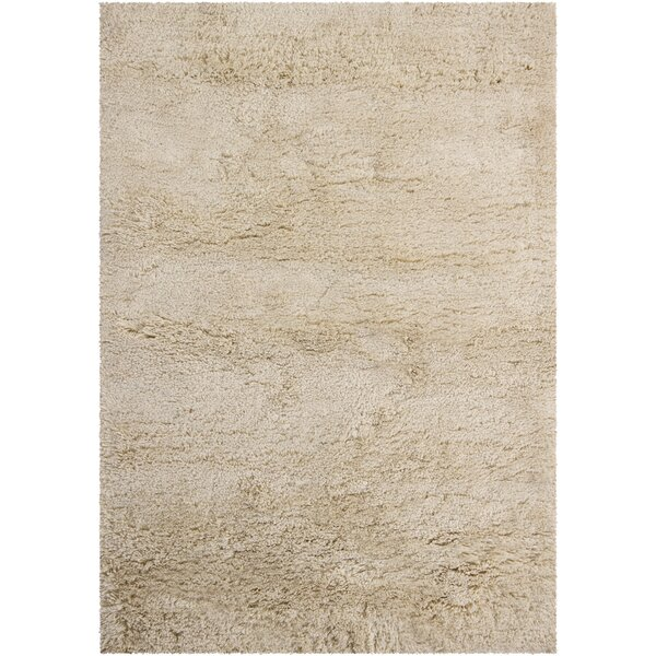 Issac Shag Cream Area Rug by Williston Forge