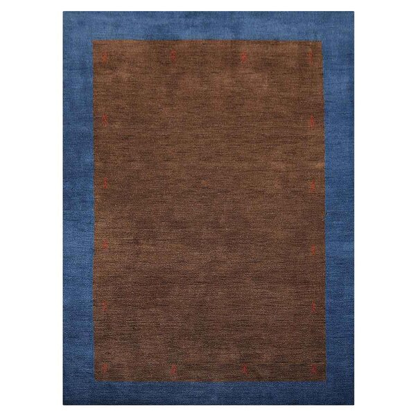 Manns Hand-Woven Wool Brown/Blue Area Rug by Union Rustic
