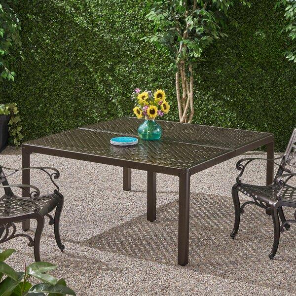 Rosalynn Cast Aluminum Dining Table by Astoria Grand