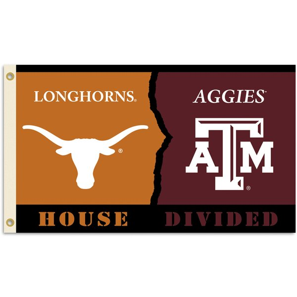 NCAA Rivalry/House Divided Polyester 3 x 5 ft. Flag by Team Pro-Mark