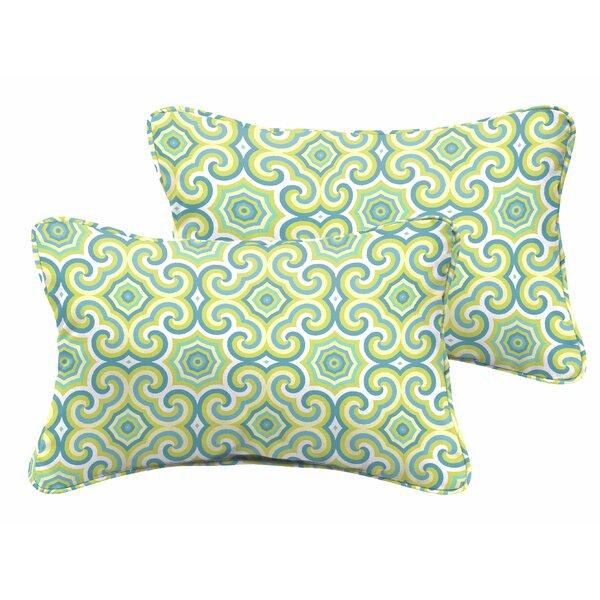 Zelda Indoor/Outdoor Lumbar Pillow (Set of 2) by Latitude Run
