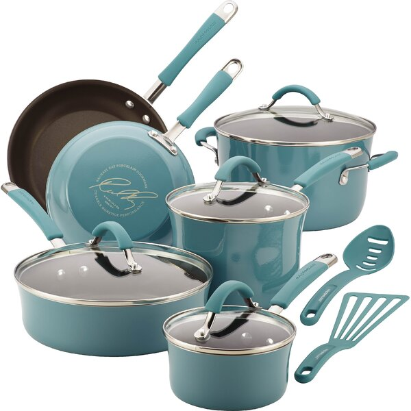 Cucina 12 Piece Non- Stick Cookware Set by Rachael Ray