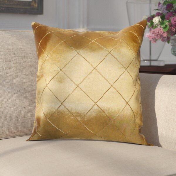 Hawkin Silky Checks Decorative Throw Pillow by Astoria Grand