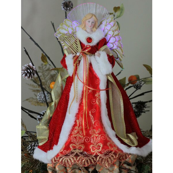 Angel Christmas Tree Topper in Garnet Coat by The Holiday Aisle