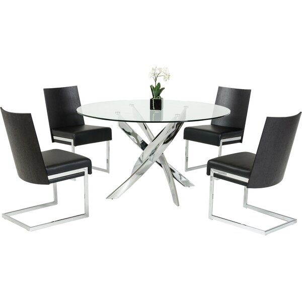 Camron Modern Round 5 Piece Dining Set by Orren Ellis