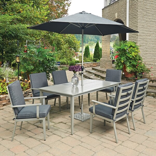 Dinan 9 Piece Dining Set with Cushion by Red Barrel Studio
