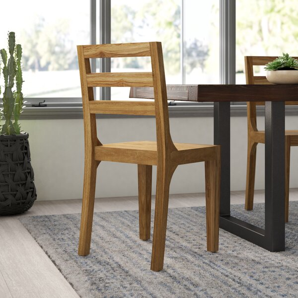 Best #1 Allegro Solid Wood Dining Chair By Mistana Cheap