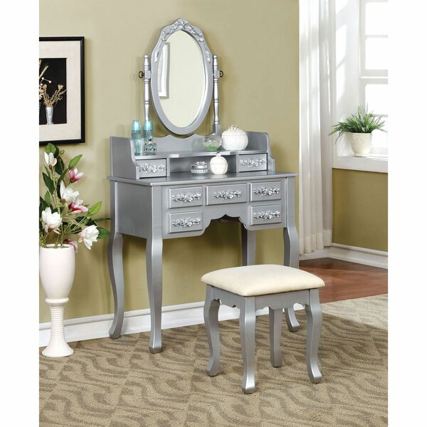 Schipper Vanity Set with Mirror by House of Hampton