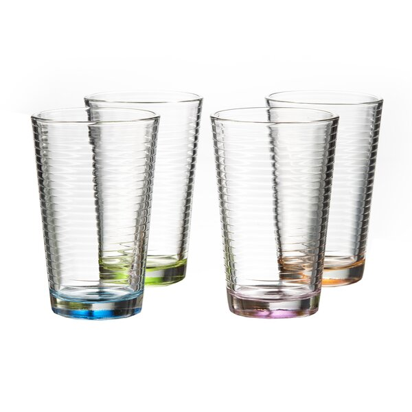 Roycroft Colored 14 oz. Highball Glass (Set of 4) by Bay Isle Home