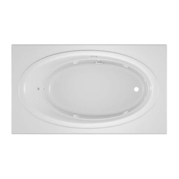 Nova Right-Hand Heater and Chroma 72 x 42 Drop in Whirlpool Bathtub by Jacuzzi®
