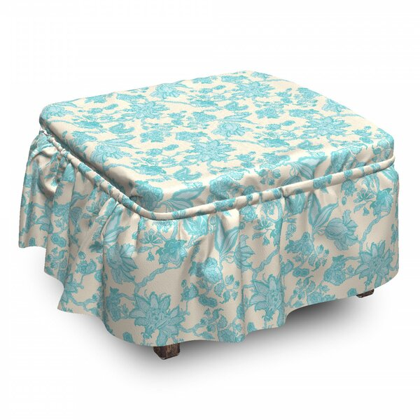 Outdoor Furniture Box Cushion Ottoman Slipcover