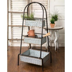 3 Tier Tall Floor Display Metal Basket