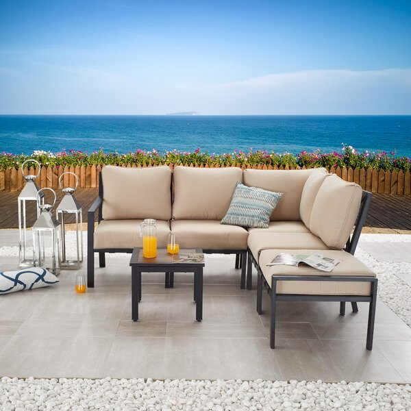 Adelman 6 Piece Sectional Seating Group with Cushions by Red Barrel Studio