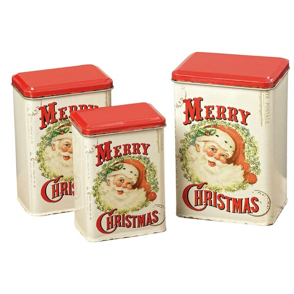 Nolo Cookie 3 Container Tin Set by The Holiday Aisle