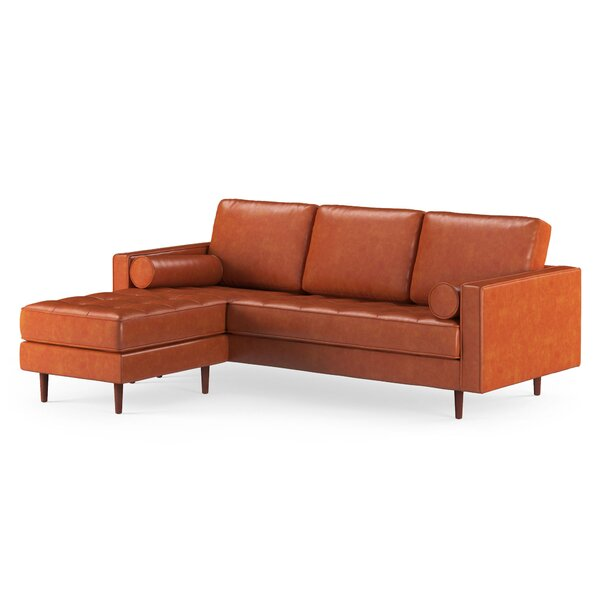 Hot Sale Bombay Leather Reversible Modular Sectional With Ottoman by Trent Austin Design by Trent Austin Design