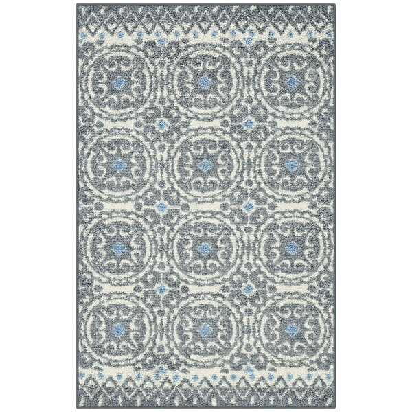 Botkin Gray Area Rug by Winston Porter