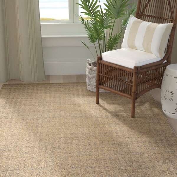 Dove Hand-Tufted Wool Latte Area Rug by Highland Dunes