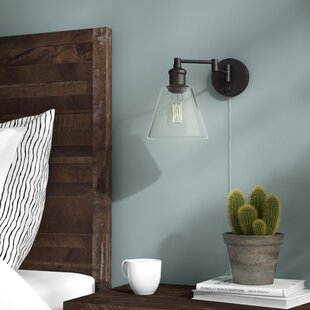Sconces youll love wayfair aidan 1 light swing arm lamp mozeypictures Gallery
