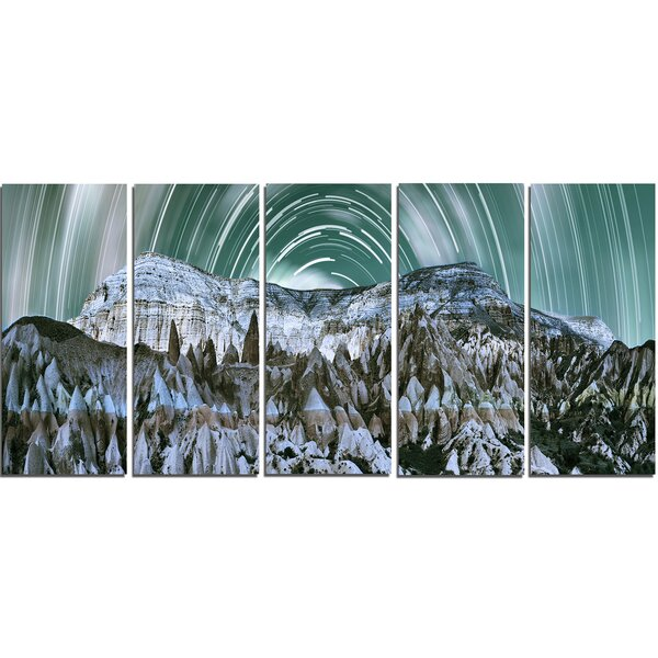 Cappadocia Valley Panoramic View 5 Piece Graphic Art on Wrapped Canvas Set by Design Art