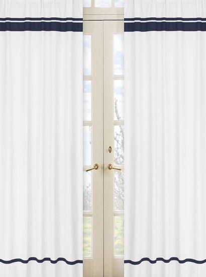 Hotel Striped Semi-Sheer Rod Pocket Curtain Panels (Set of 2) by Sweet Jojo Designs