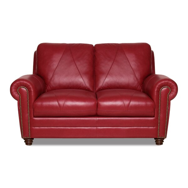 Priddy Leather Loveseat by Red Barrel Studio