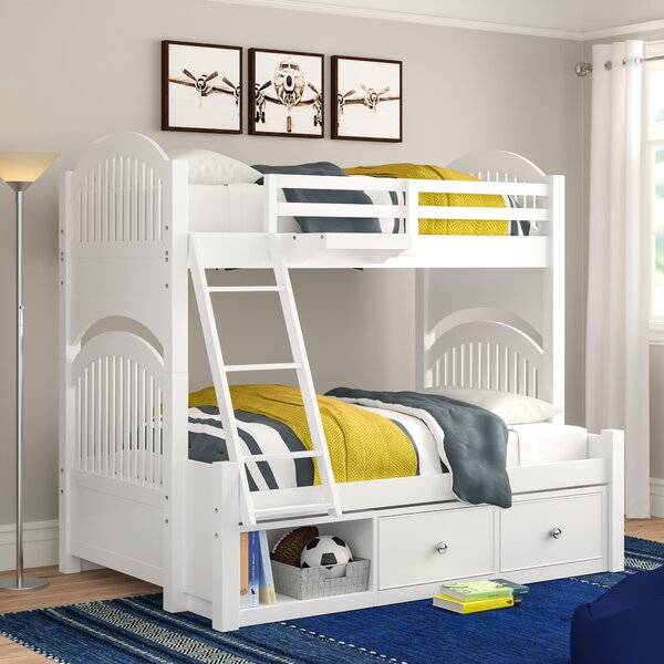 Nickelsville Twin Over Full Bunk Bed with Drawers by Three Posts Baby & Kids