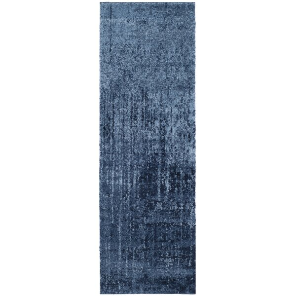 Tenth Avenue Light Blue / Blue Area Rug by Wrought Studio