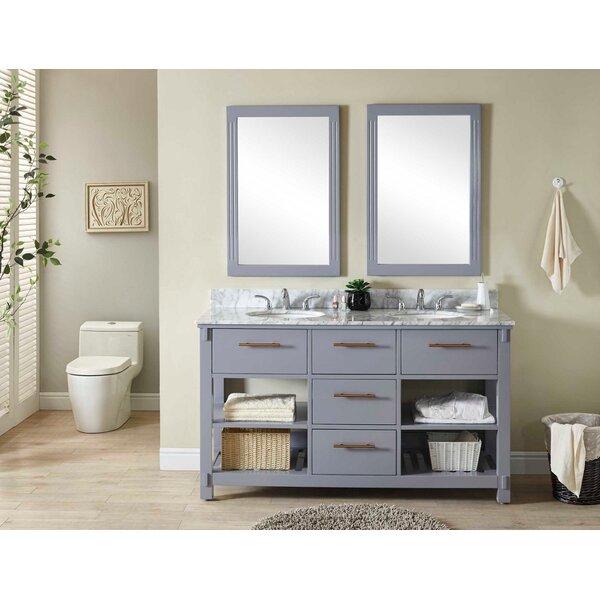 Greeley 61 Double Bathroom Vanity Set by Wrought Studio
