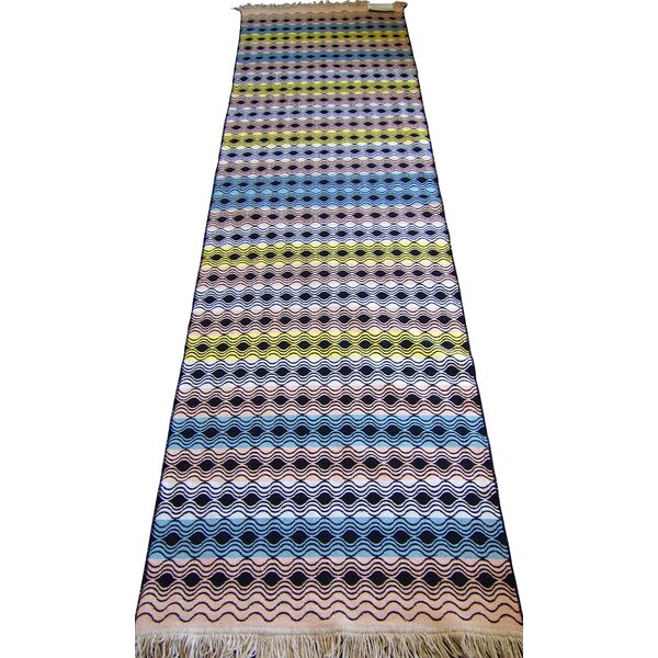 Accent Double Sided Blue/Yellow Indoor/Outdoor Area Rug by oyo concept