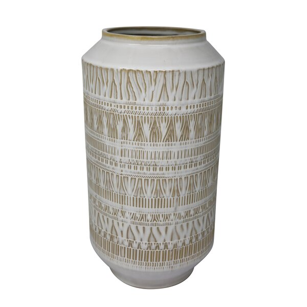 Carnation Ceramic Tribal Look Table Vase by Union Rustic