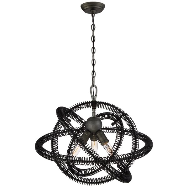 Aicha 3-Light Unique / Statement Geometric Chandelier By 17 Stories