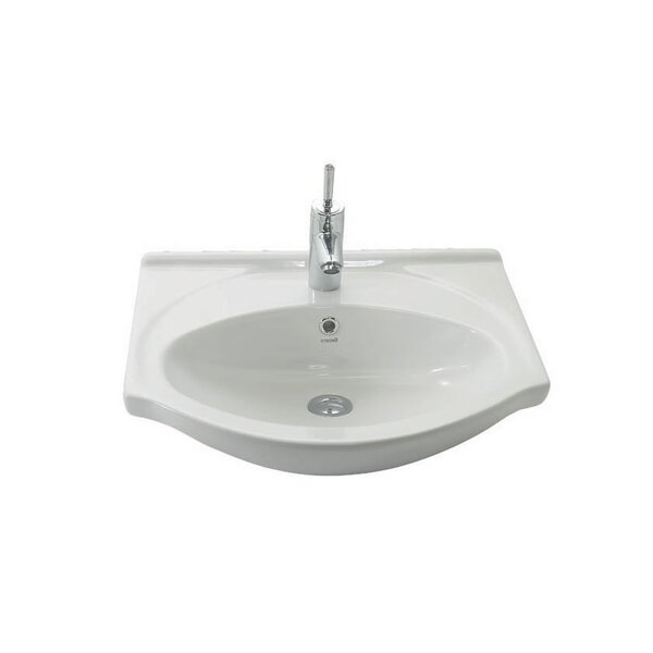 Etol Ceramic 22 Wall Mount Bathroom Sink with Overflow by WS Bath Collections